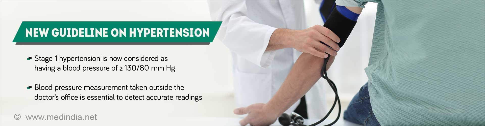High Blood Pressure Guideline Lower Definition of Hypertension