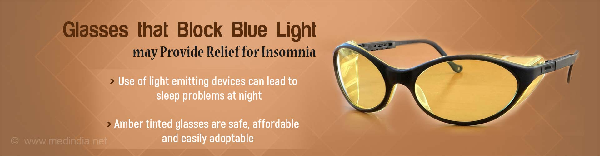 New Light Blocking Glasses may provide Relief from Insomnia
