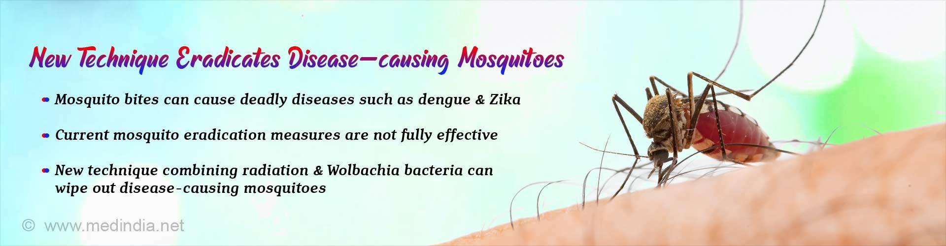 Novel Technique Eradicates Disease-causing Mosquitoes