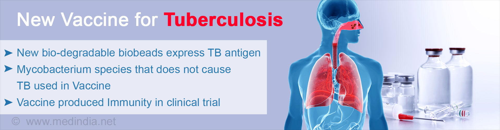 New Vaccine for Tuberculosis Holds Promise of Protection