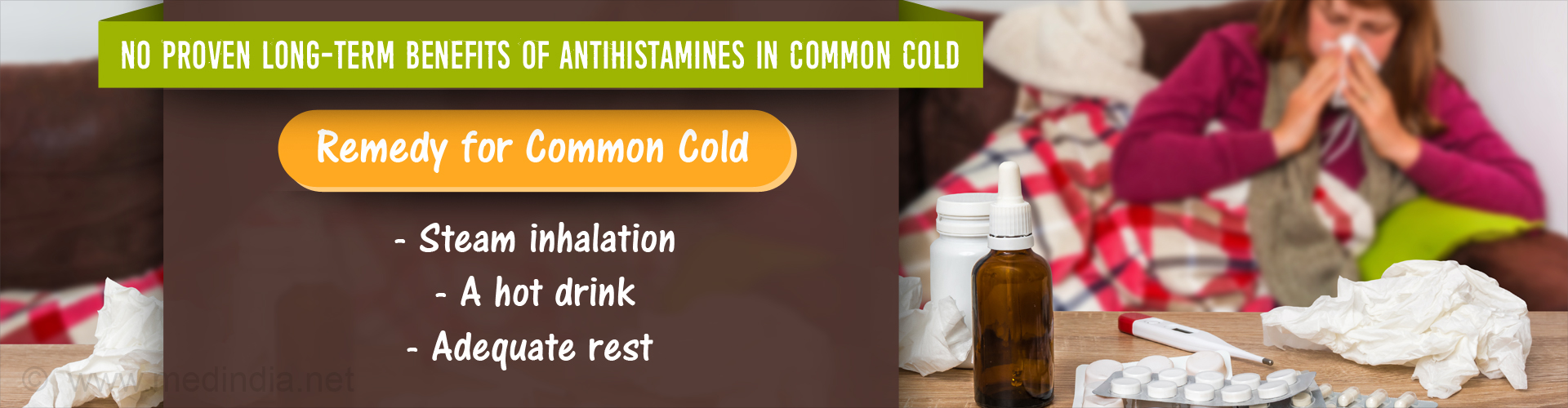 Antihistamines May Not Provide Long-term Relief from Common Cold