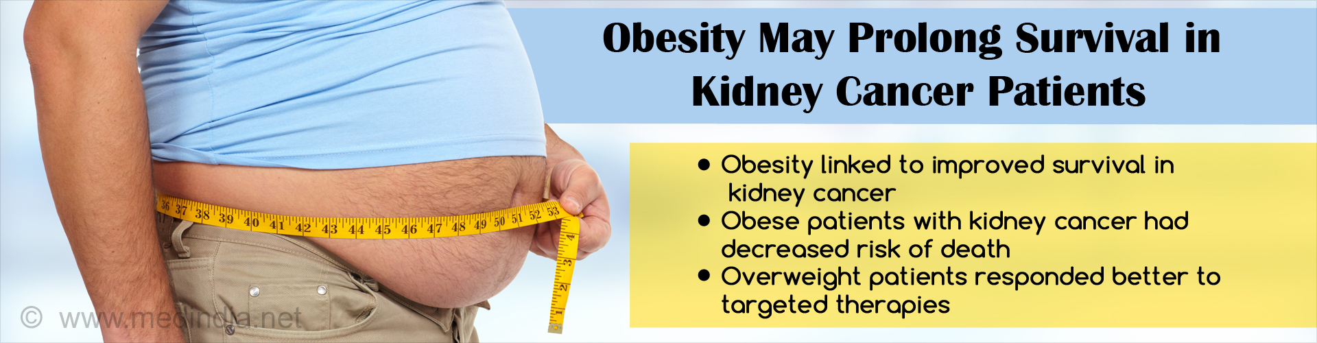 Obese Kidney Cancer Patients Survive Longer Compared to Normal BMI Patients
