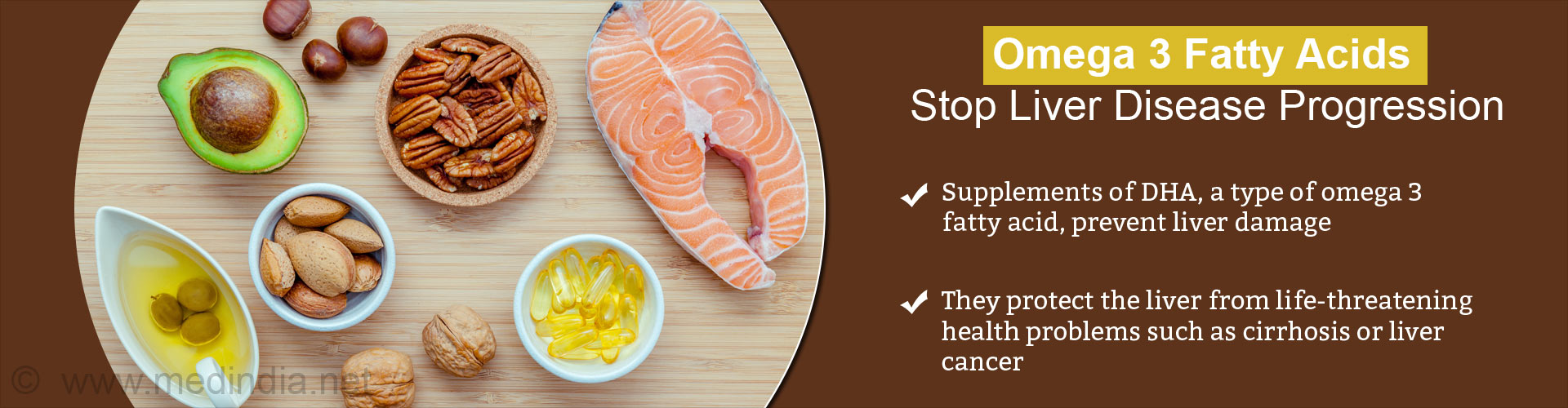 Omega 3 Fatty Acids Halt Progression of Liver Disease, Prevent Liver Damage