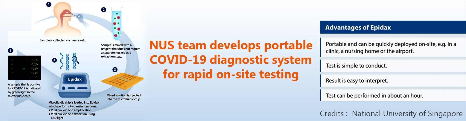 Portable COVID-19 Diagnostic System Developed for Rapid On-site Testing