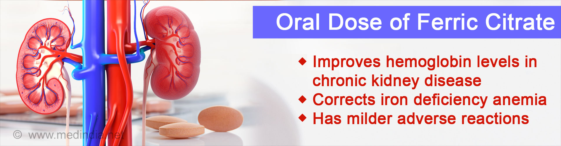 Iron Deficiency Anemia in Kidney Disease can be Treated With Oral Ferric Citrate