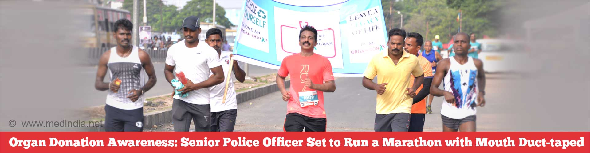 Q & A: Senior Police Officer Set to Run a Marathon With Mouth Duct-taped to Spread Awareness on Organ Donation