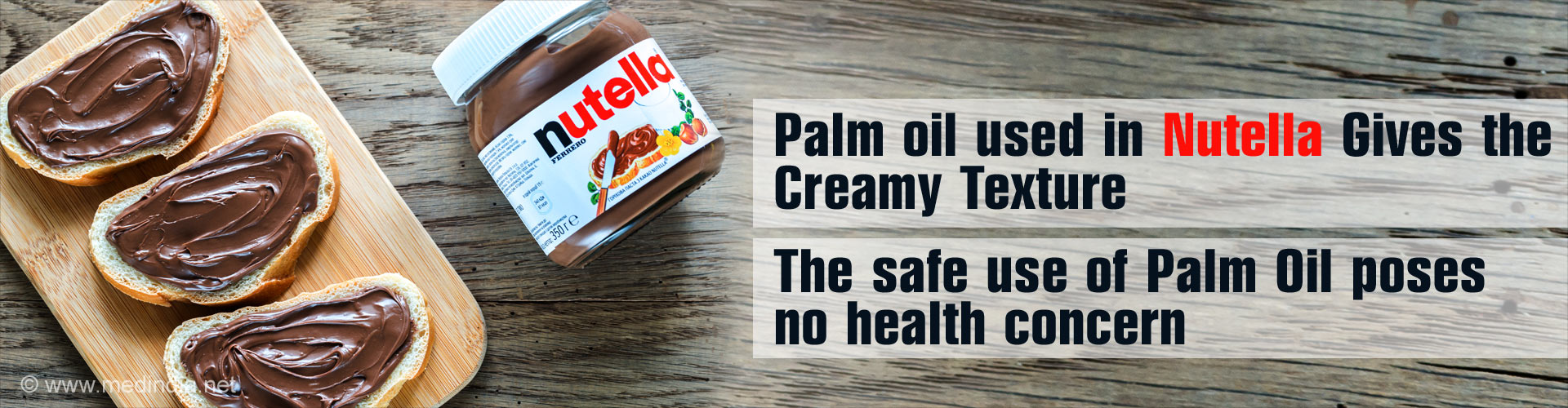 Nutella Contains Palm Oil but Poses No Cancer Risk