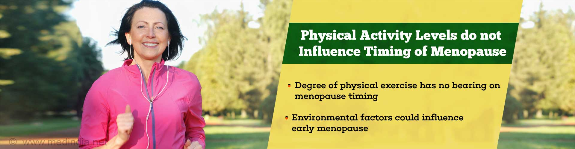 Menopause Timing is Not Affected by Physical Activity