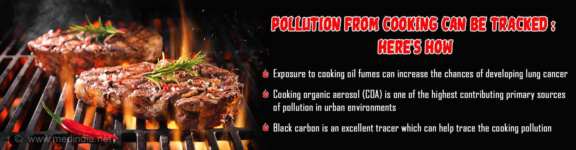 Cooking Based Pollution Can Be Traced Using a New Method