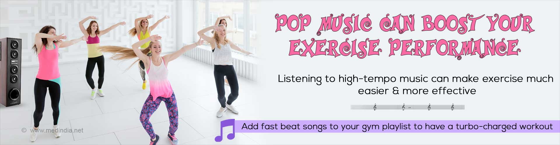 Fast Beat Music Makes Your Daily Exercise More Effective