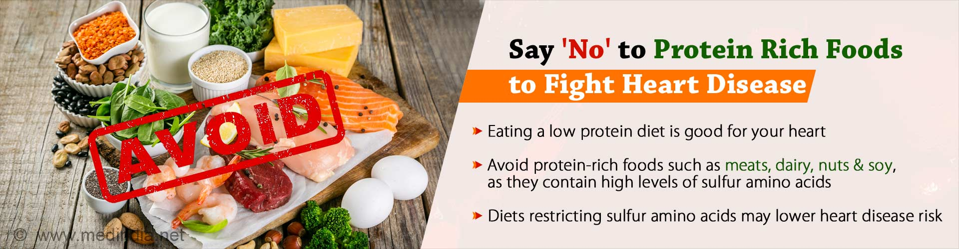 Low-protein Diet may Cut Down Heart Disease Risk
