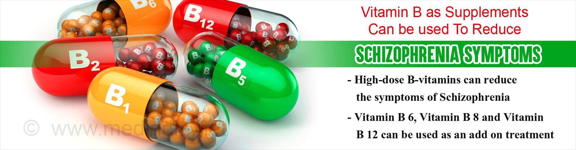 B Vitamins Can Reduce Schizophrenia Symptoms