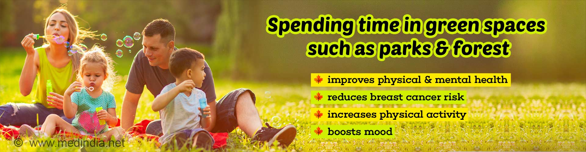 Green Spaces can Boost Your Health and Wellbeing
