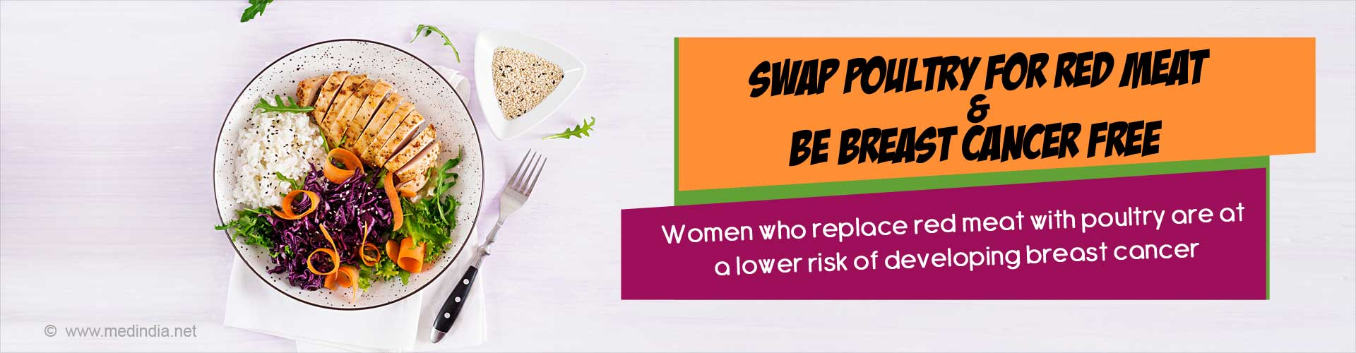 Swap Poultry for Red Meat to Fight Breast Cancer