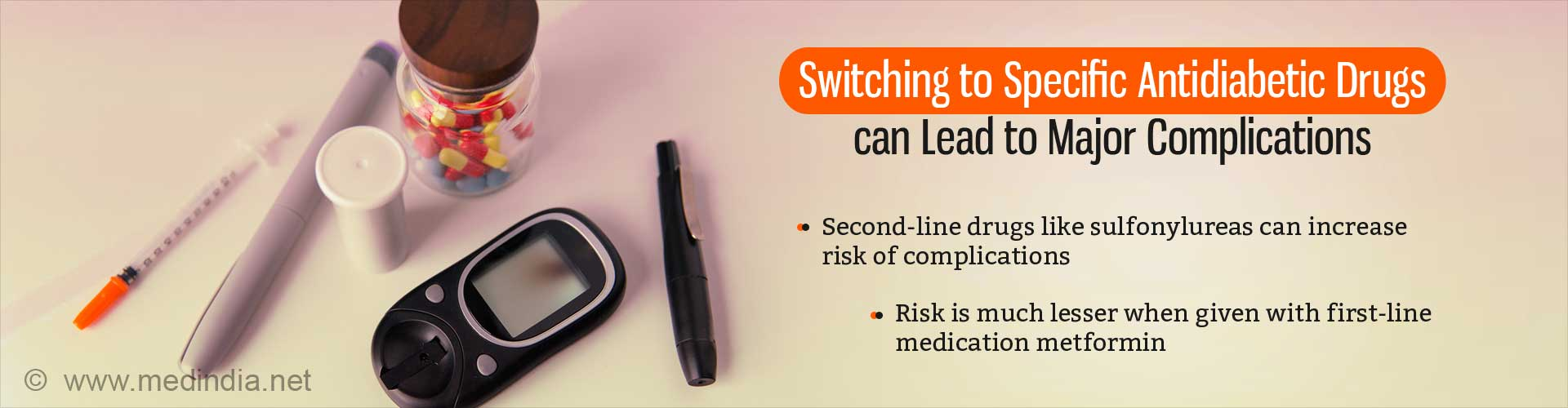 Changing Completely to Second-line Type 2 Diabetic Drugs Increases Risk of Major Complications
