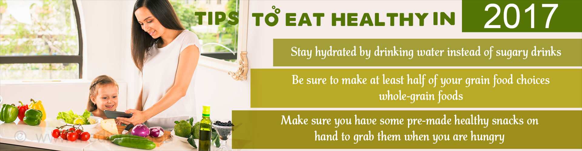 Tips to Eat Healthy in 2017