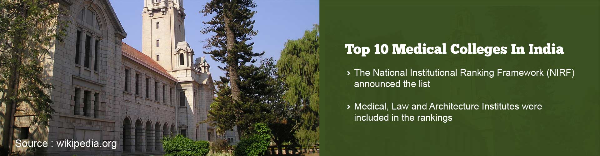 Top 10 Medical Colleges in India as by Ranked Human Resource Ministry
