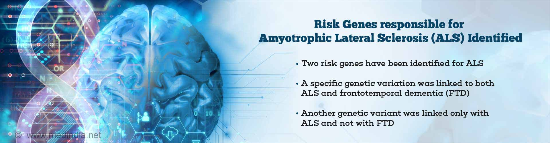 Two Risk Genes for Amyotrophic Lateral Sclerosis Identified