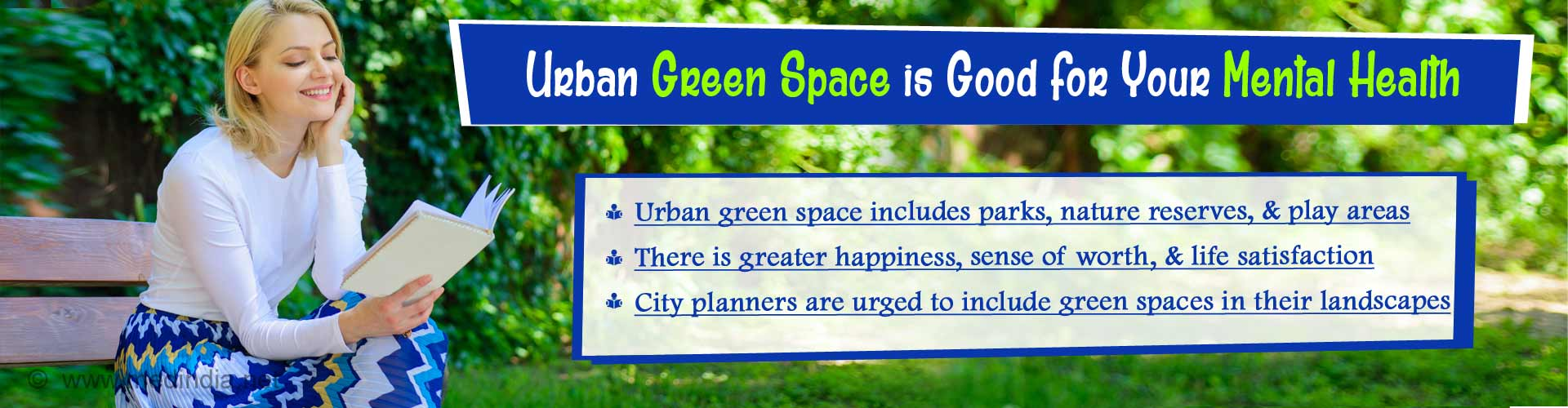 Closer You Are to Green Space, Better is Your Mental Health