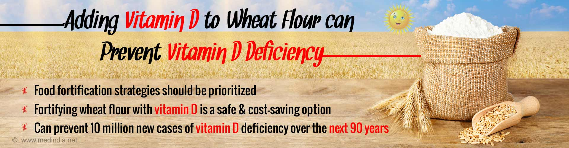 Fortifying Wheat Flour with Vitamin D Prevents 10 Million New Cases of Deficiency