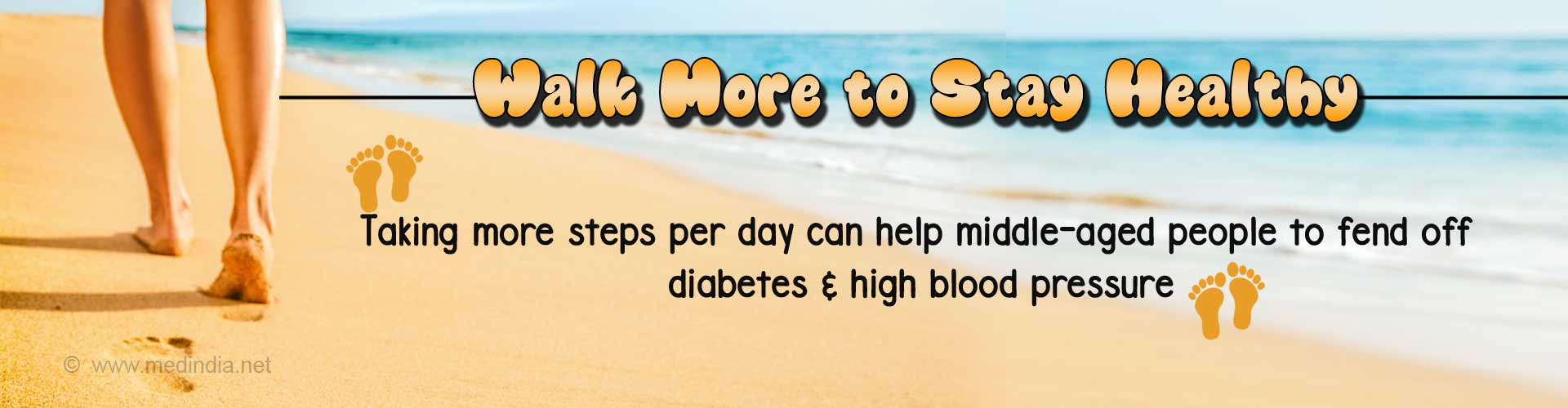 Take More Steps a Day to Fight Diabetes, High Blood Pressure