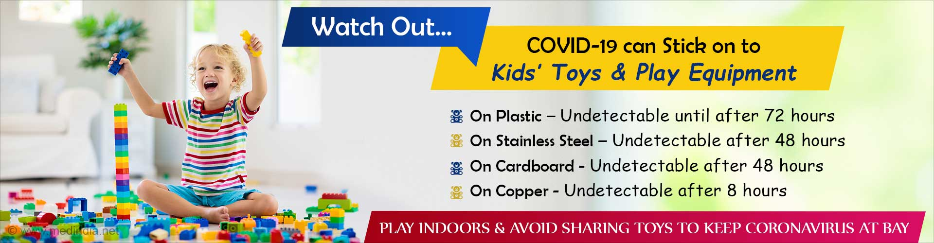 Watch Out: Deadly Coronavirus may Lurk in Kids' Toys and Play Equipment