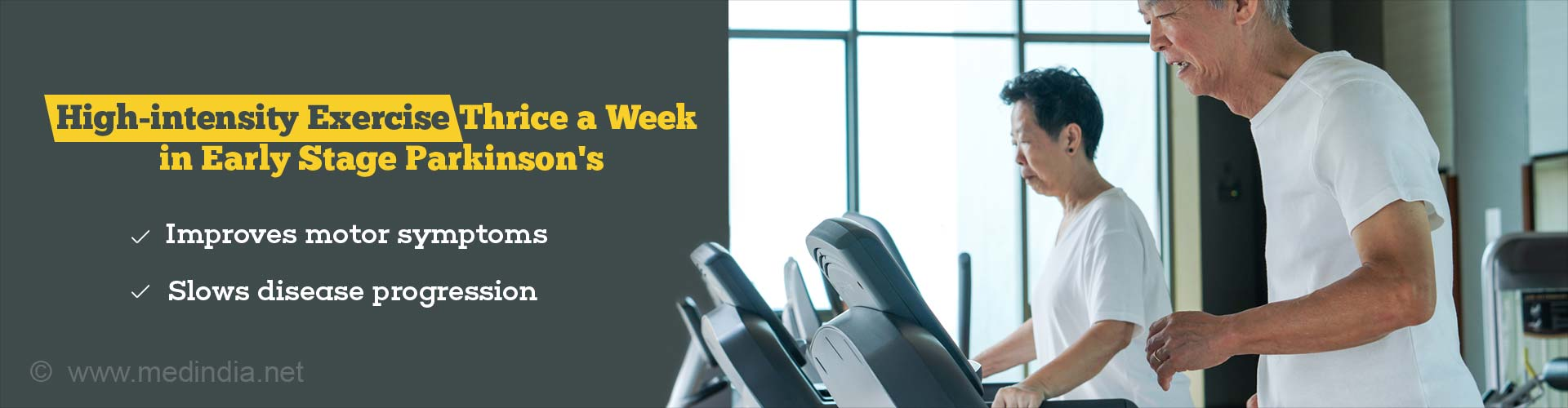 Workout On the Treadmill Thrice a Week To Deal With Parkinson's Disease
