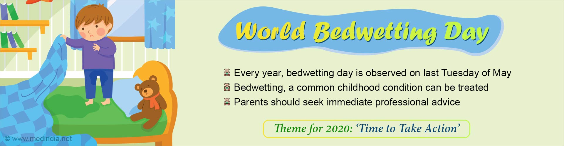 World Bedwetting Day: Time to Take Action