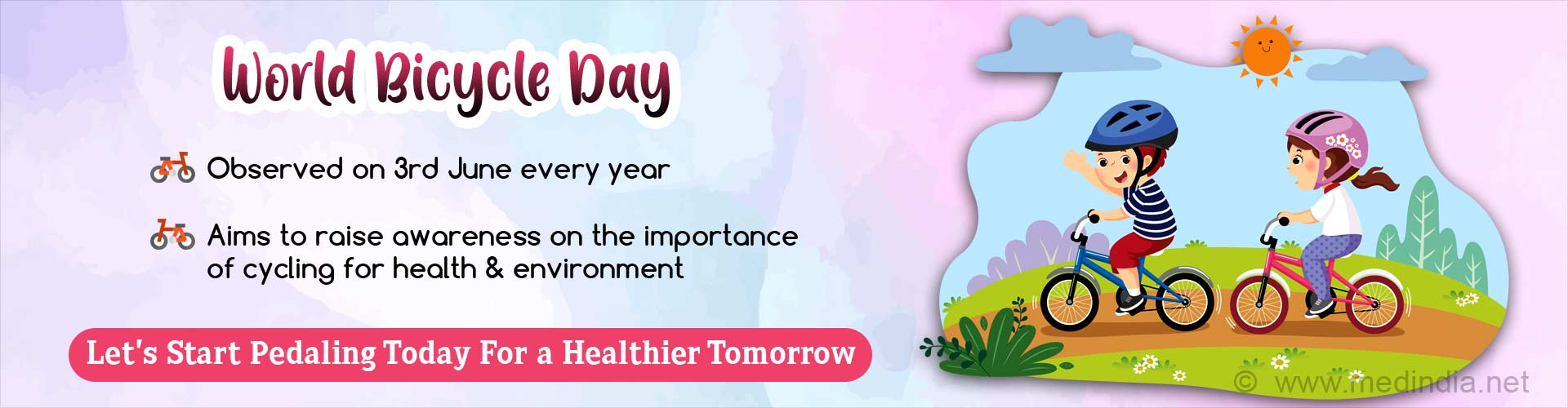 World Bicycle Day: 'Pedaling Towards Health and Happiness'