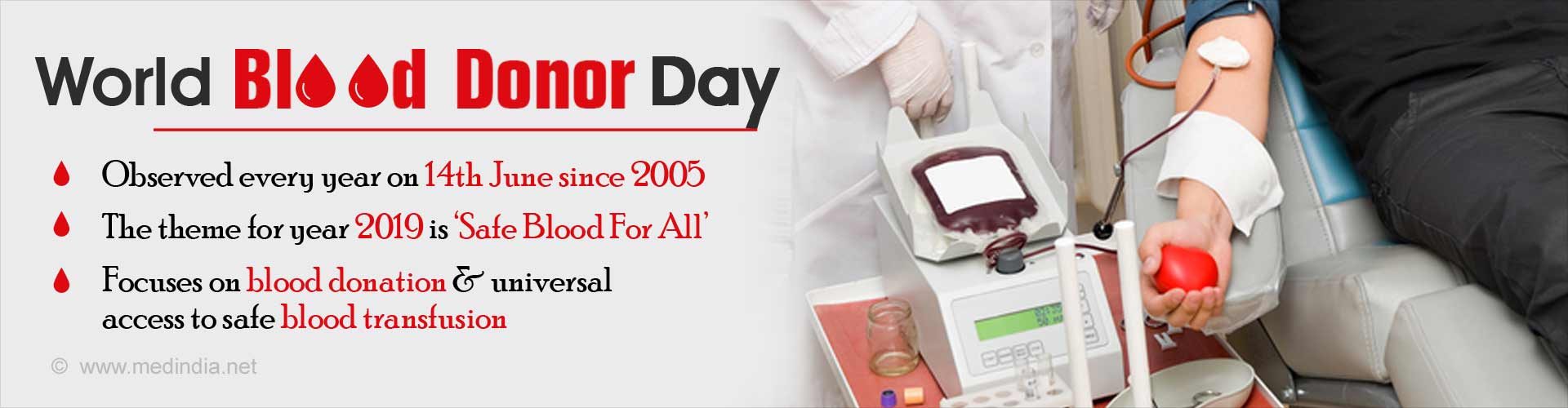 World Blood Donor Day – Safe Blood for All