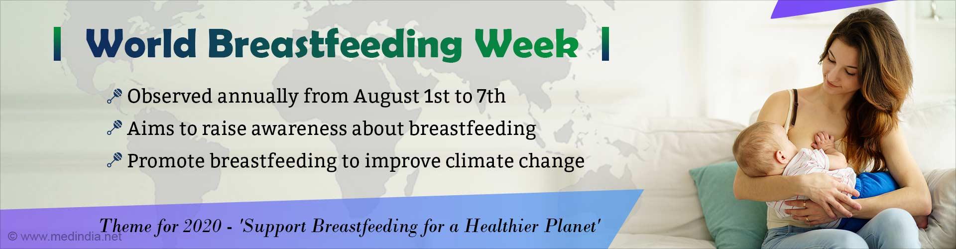World Breastfeeding Week- Support Breastfeeding for a Healthier Planet