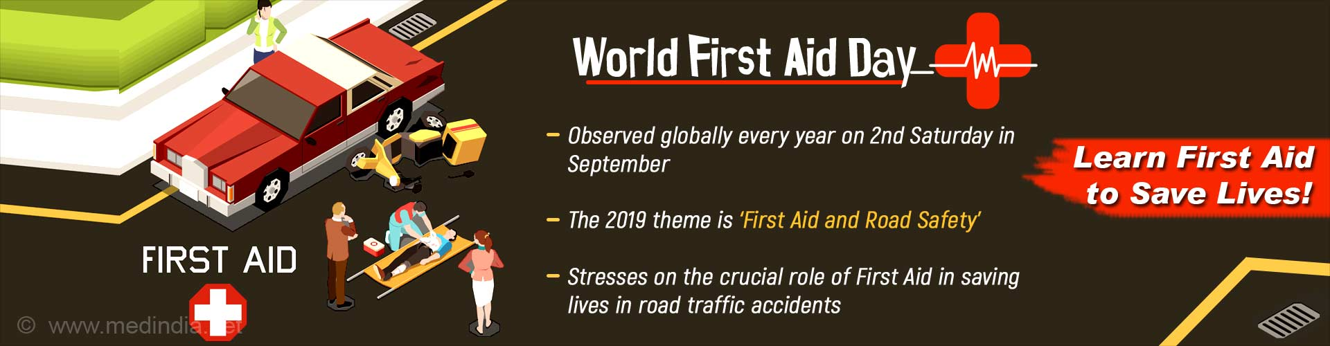 World First Aid Day: 'First Aid and Road Safety'