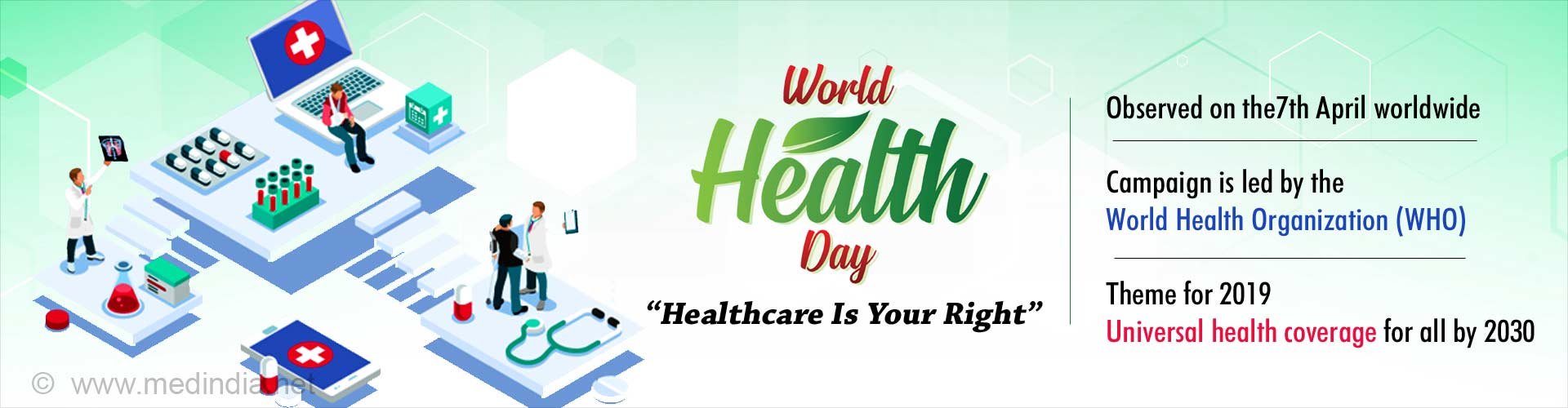 World Health Day - Universal Health Coverage for All by 2030