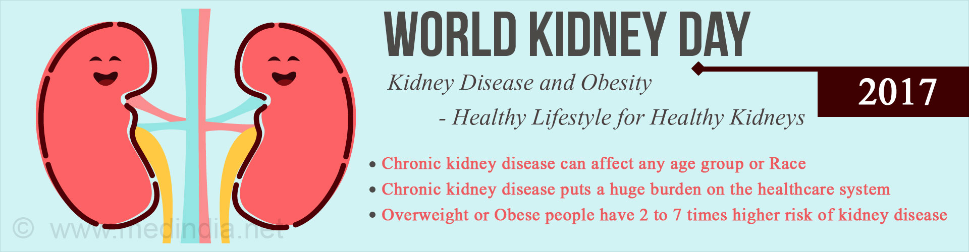 World Kidney Day 2017: Kidney Disease and Obesity - Healthy Lifestyle for Healthy Kidneys