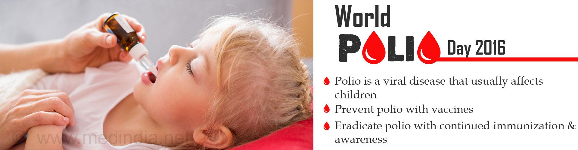 World Polio Day 2016: 'End Polio'