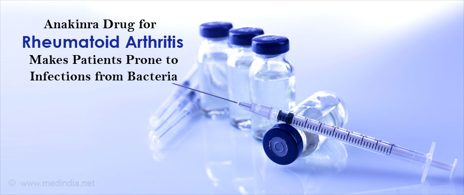 Flesh Eating Infections in Rheumatoid Arthritis Patients may Increase With Drug Anakinra
