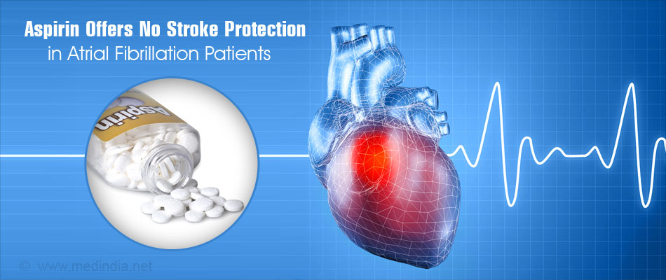 Aspirin Not Effective in Preventing Strokes in Patients With Atrial Fibrillation