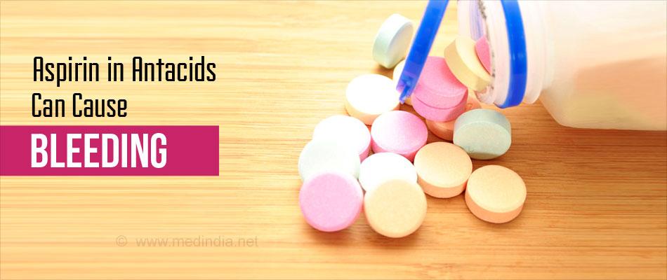Aspirin in Antacids can Cause Bleeding