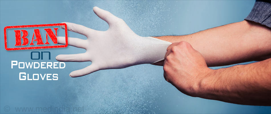 Ban on the Use of Most Powdered Gloves in the United States