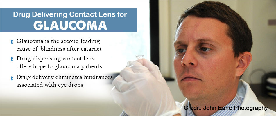 Hands-Free Drug Dispensing for Eye Pressure Using Special Contact Lens