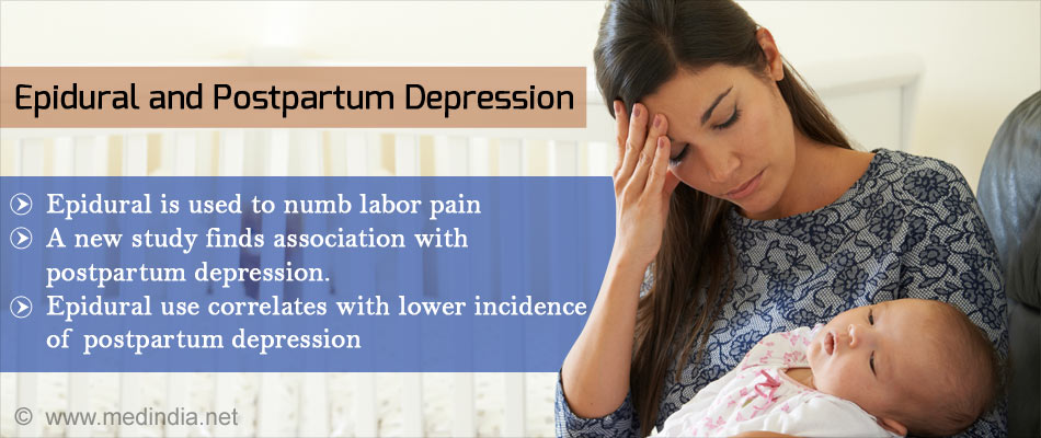 Epidural Found to Numb Labor Pain and Postpartum-Depression
