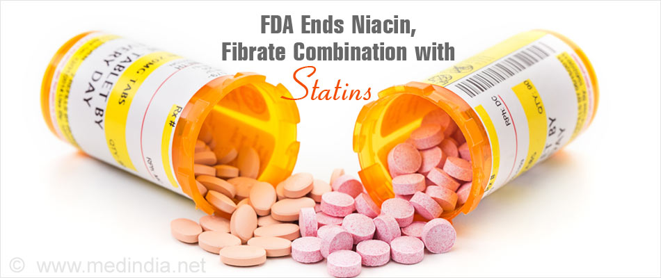 Use of Combination of Statin With Fibrate or Niacin No Longer Approved for High Cholesterol Levels