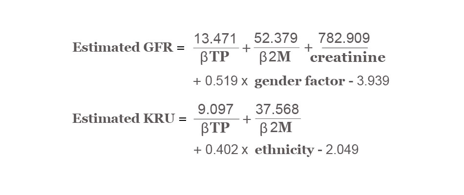 Estimated GFR and KRU