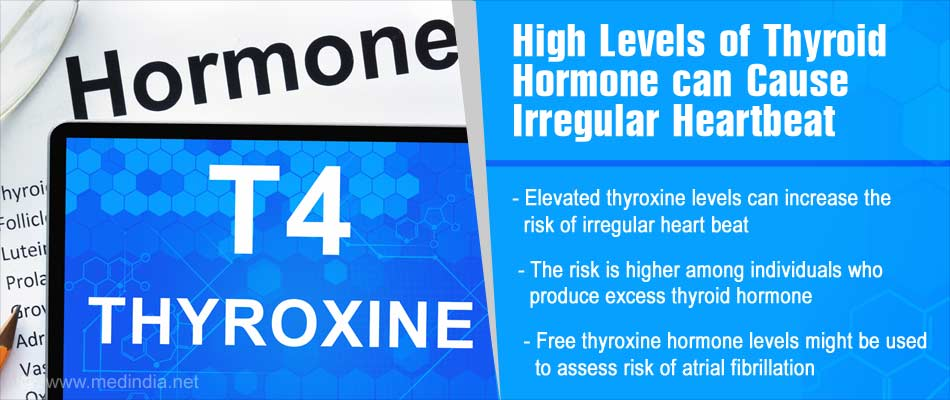 Higher Levels Of Thyroxine Linked To Irregular Heartbeat