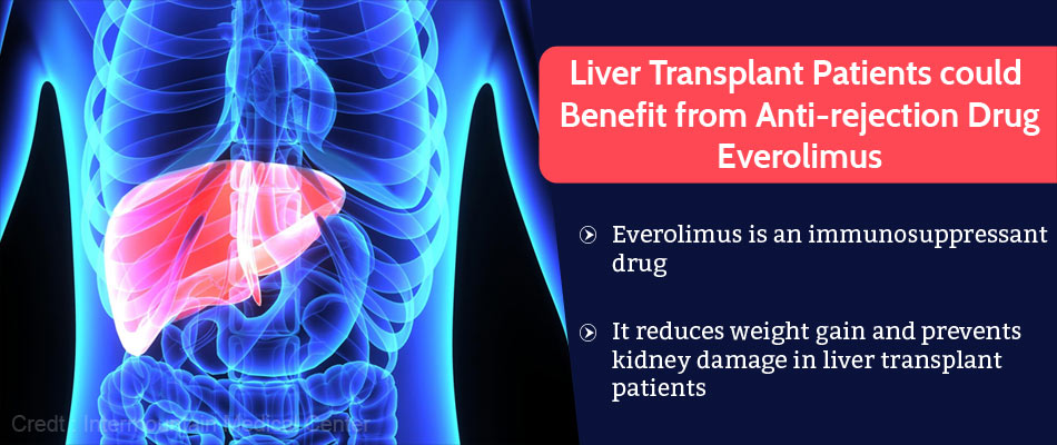 Anti-rejection Drug Everolimus Could Improve Outcomes for Liver Transplant Recipients