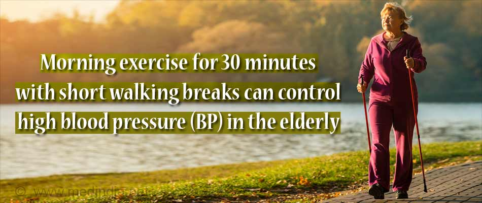 Morning Exercise With Short Breaks can Control Blood Pressure