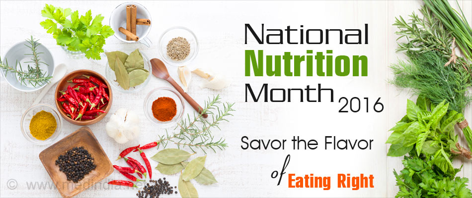 National Nutrition Month - Savor the Flavor of Eating Right