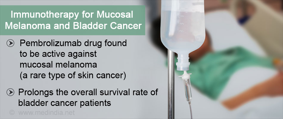 Pembrolizumab - New Immunotherapy Drug For Mucosal Melanoma and Bladder Cancer