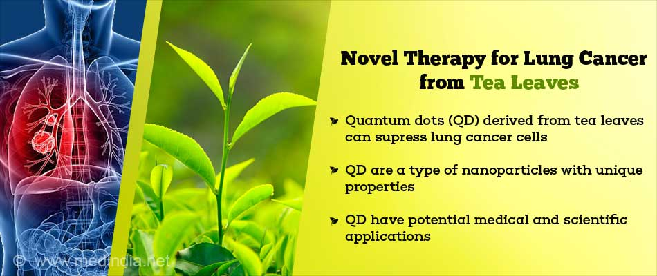 Nanoparticles Produced from Tea Leaves Inhibit Lung Cancer