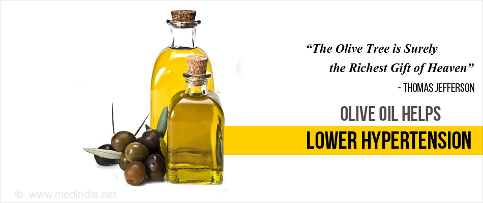 Virgin Olive Oil Helps Lower Blood Pressure